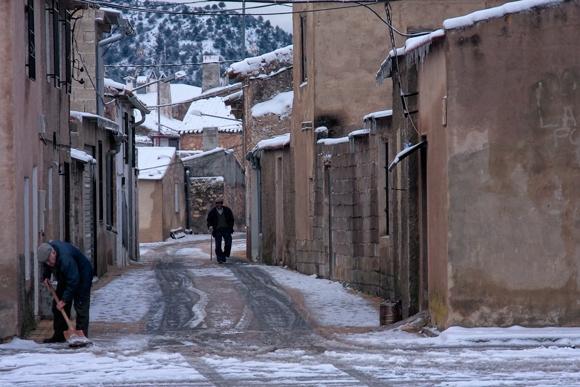 El Sabinar con nieve