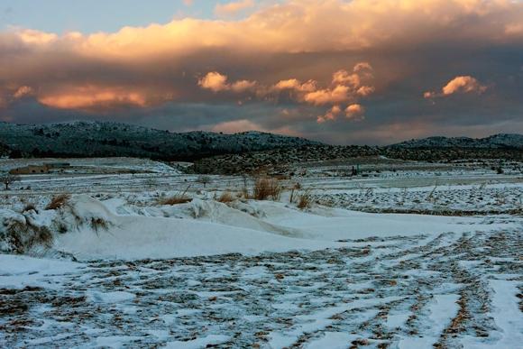 Campo del Sabinar nevado