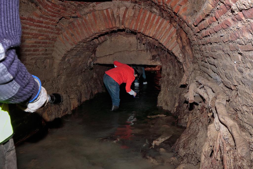 La acequia Aljufía subterráneo en Murcia