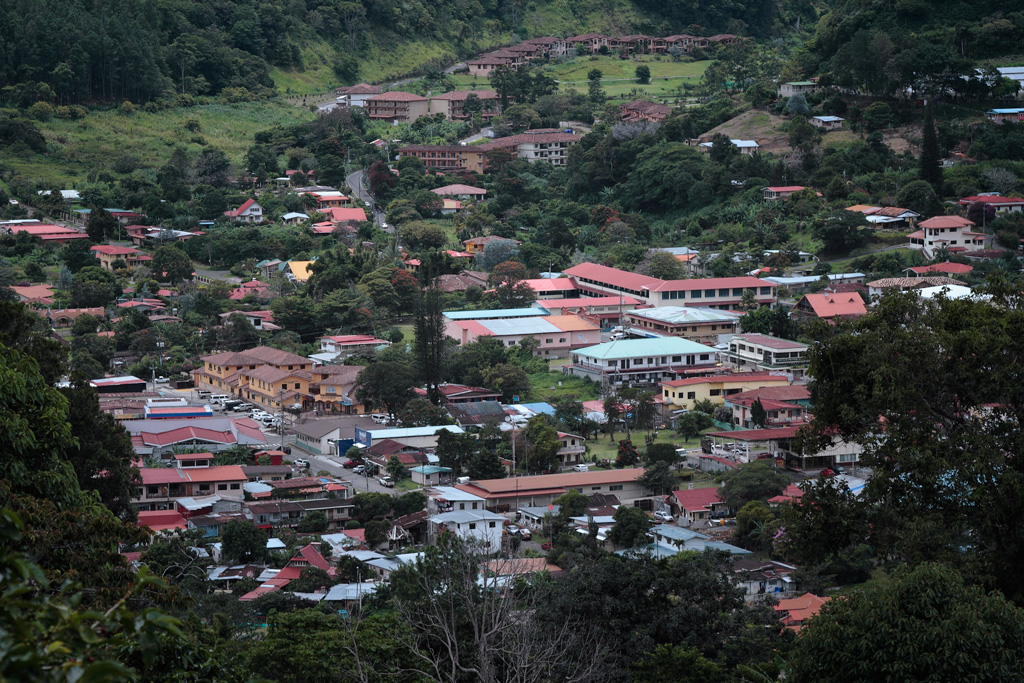 Pueblo de Boquete desde Jaramillo