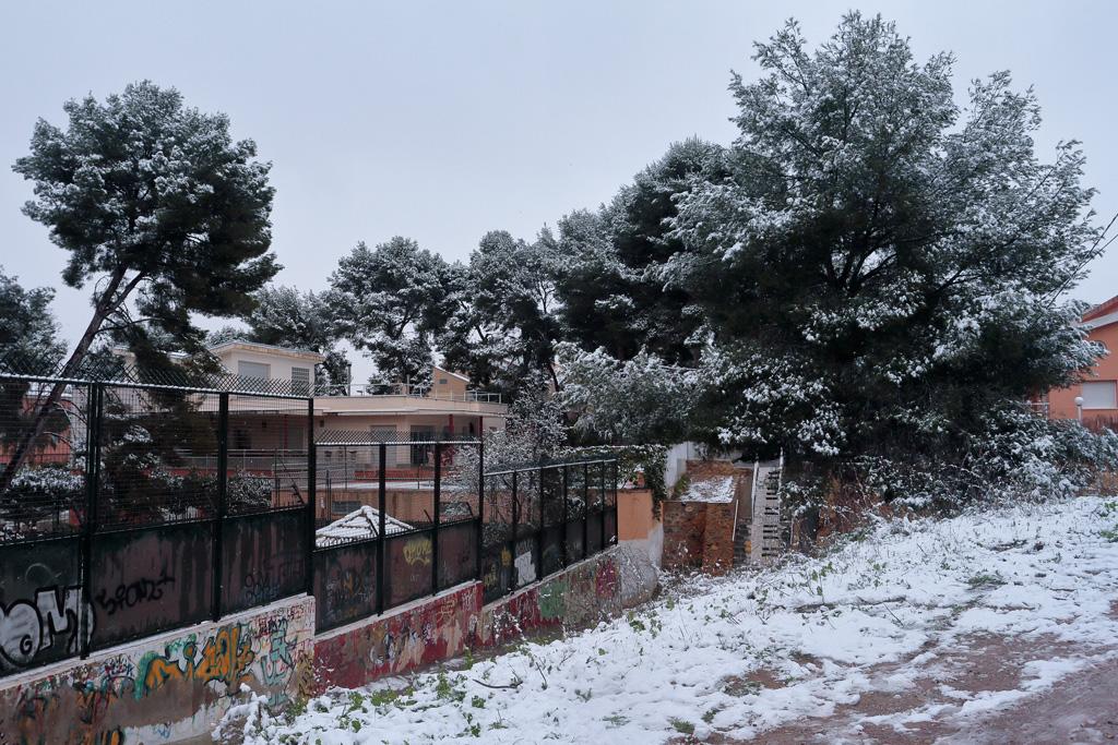 El frente polar trae nieve a la región de Murcia