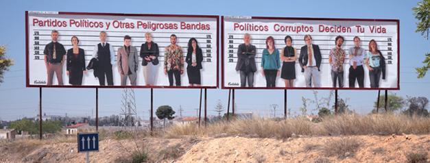 Exposición de Cantabella en vallas publicitarias