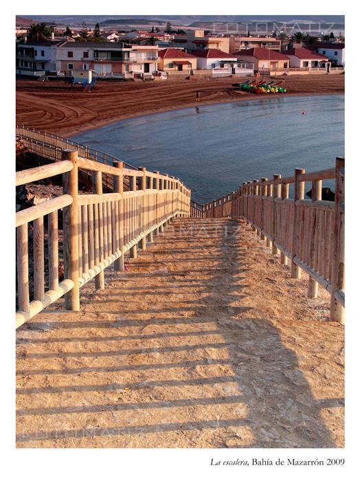 La escalera en Bahía de Mazarrón