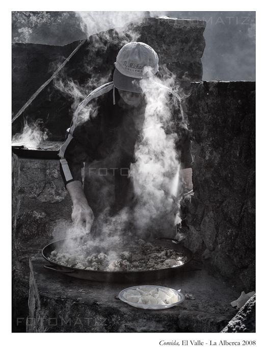 Comida en el Valle de la Alberca