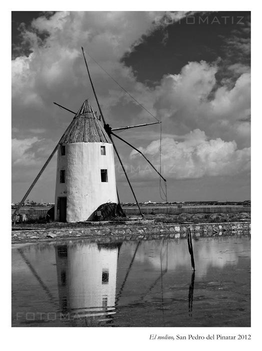 El molino de las salinas de San Pedro de Pinatar